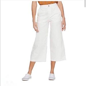 A New Day Target White Wide Leg High Waist Crop